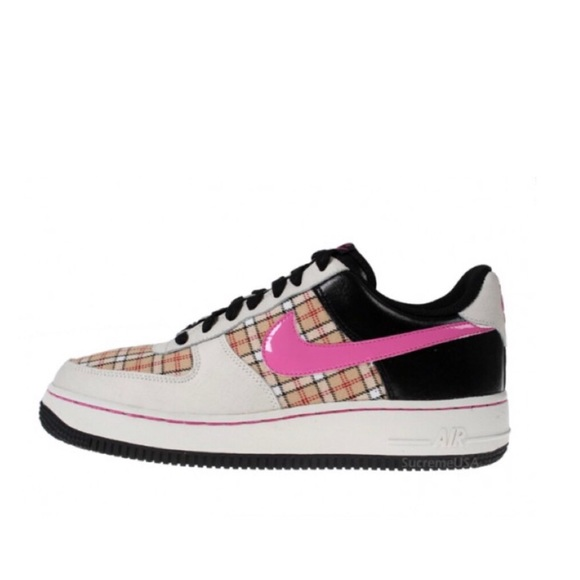 Details about Women NIKE Air Force 1 shoes Plaid Old School Size 7Y Nike